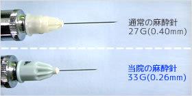 極細の注射針を使用